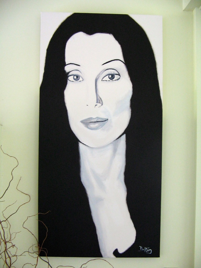 Cher painting by John Dalton