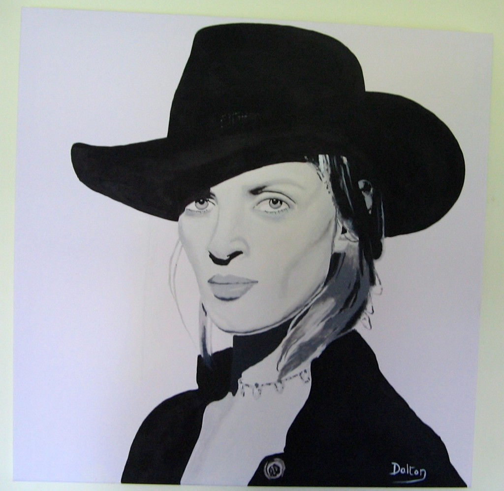 Uma Thurman painting by John Dalton