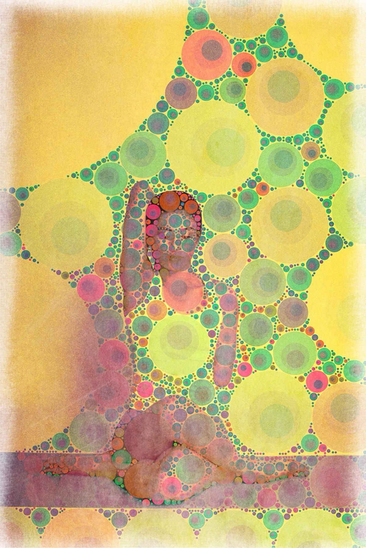 Yoga art 15 by John Dalton