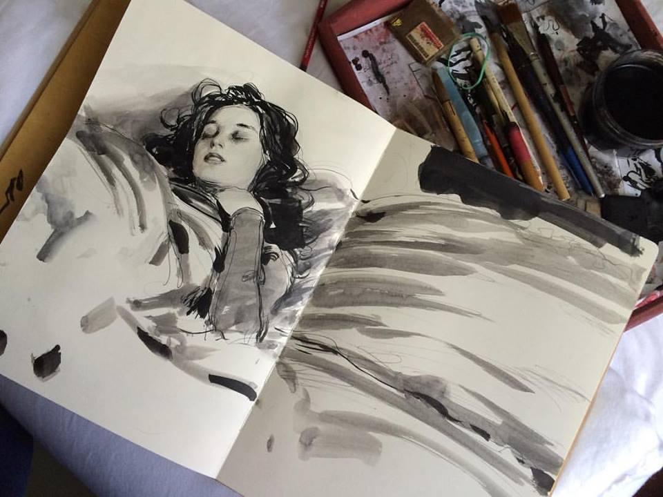 Dorian Vallejo morning sketch