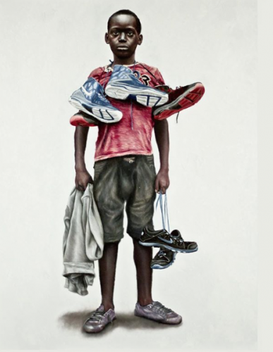 Basketball Sneakers in Rwanda by O'Neil Scott
