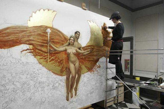 Arantzazu Martinez working on Freedom Reborn
