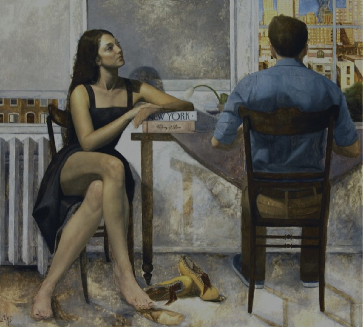 I Heart New York, or Man and Woman at Table by Hyeseung Marriage-Song